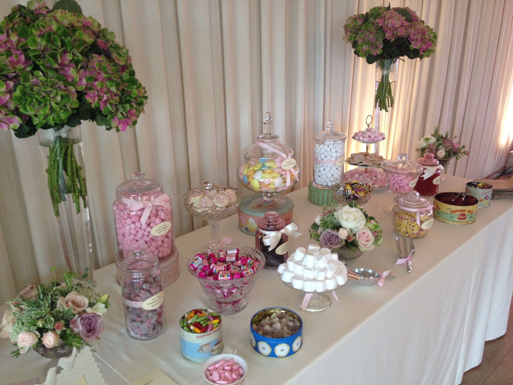 Candy buffet unique floral candy buffet watchthetrailerfo