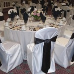 Black Sash Chair Covers